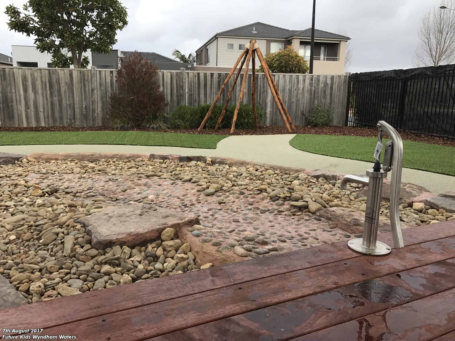natural child care centre design melbourne water play