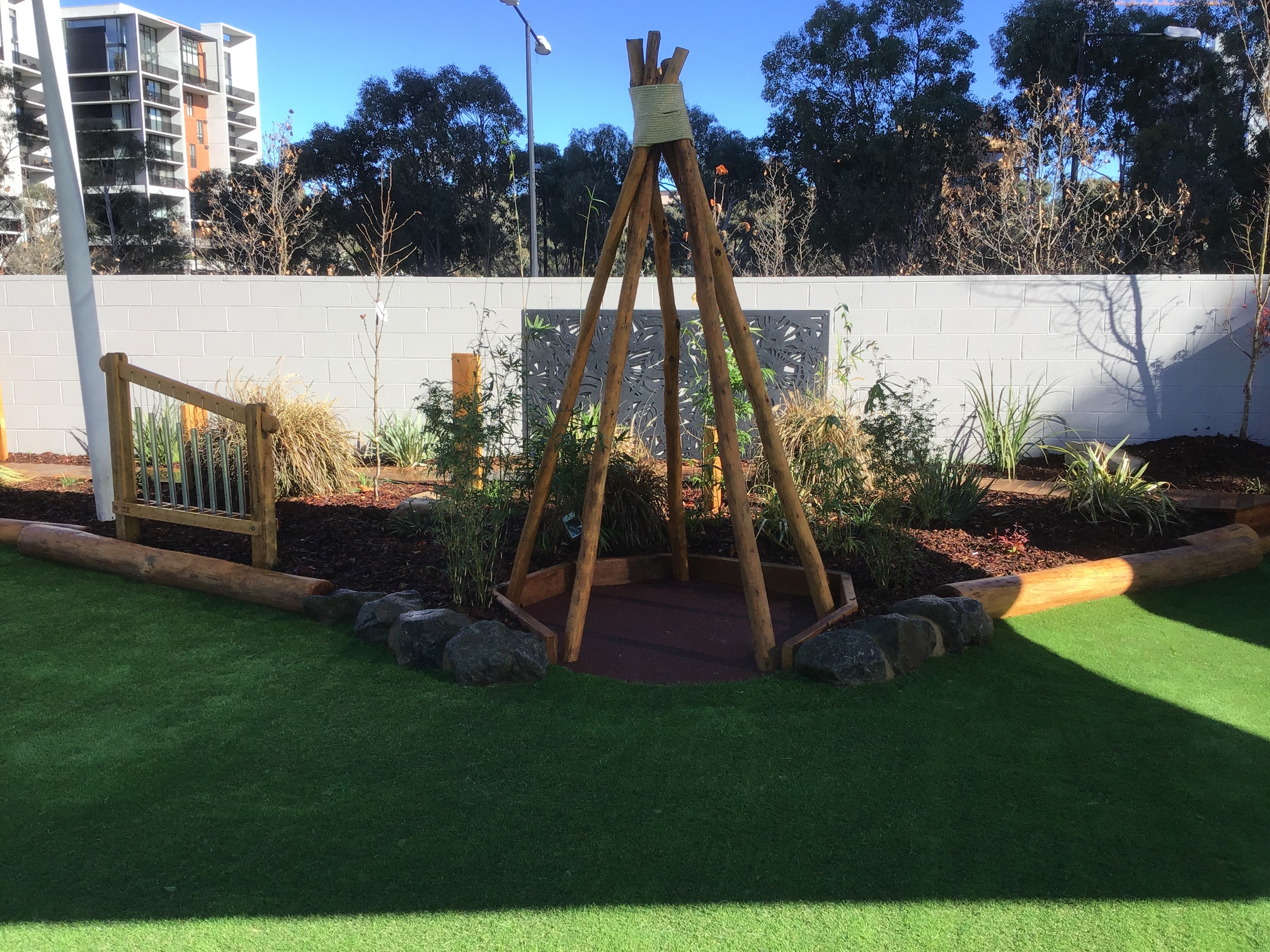 Canberra playground teepee