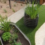 Corrugated iron planter - blackburn