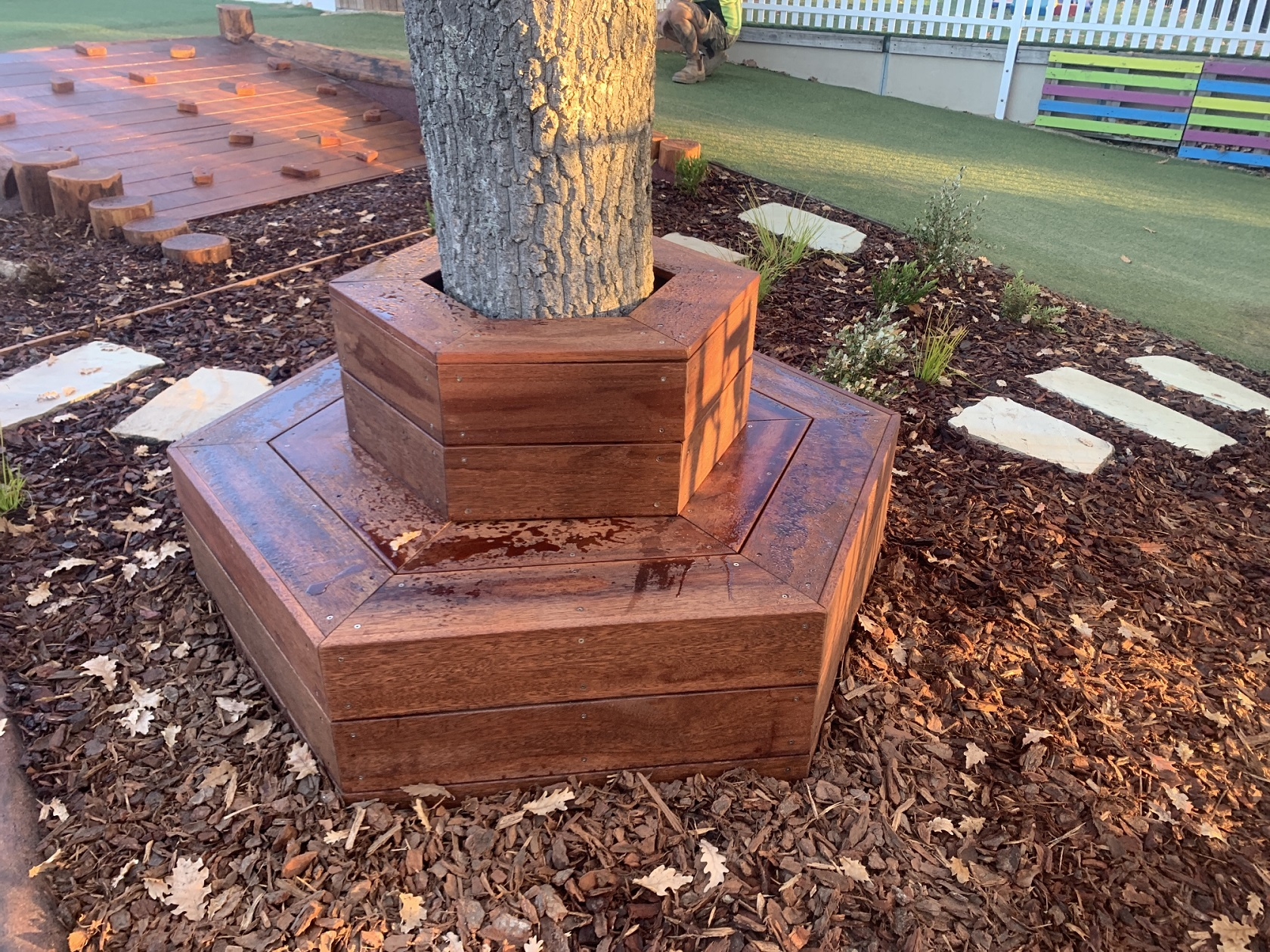Seat around tree - Yarralumla
