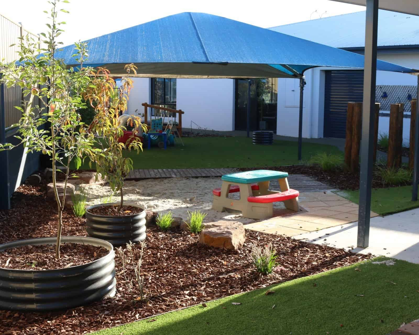 childcare centre Cranbourne - sandpit surfaces