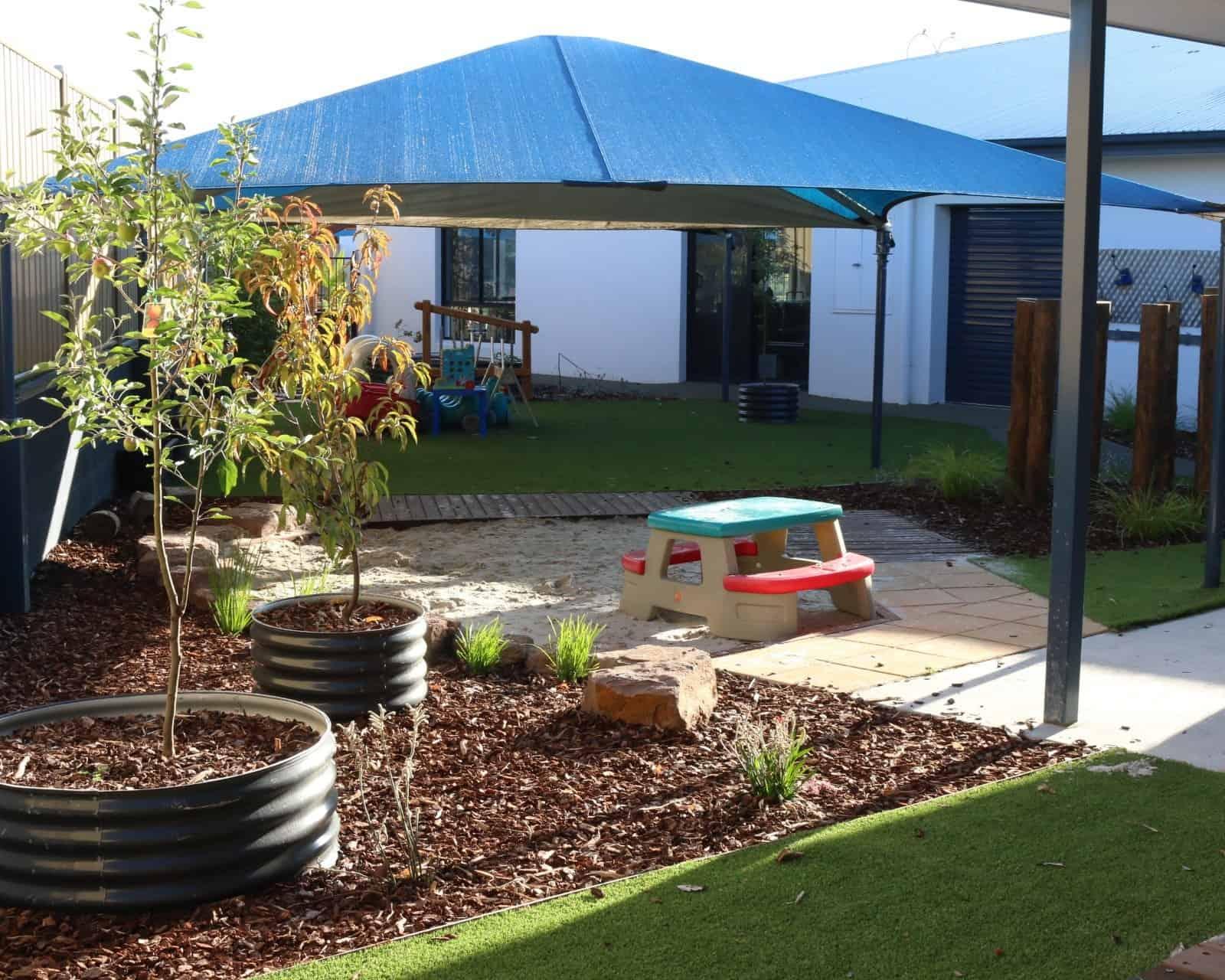 childcare centre Cranbourne - sandpit surfaces
