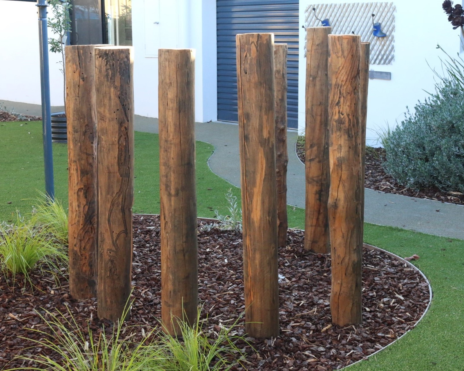 childcare centre Cranbourne - upright log cubby