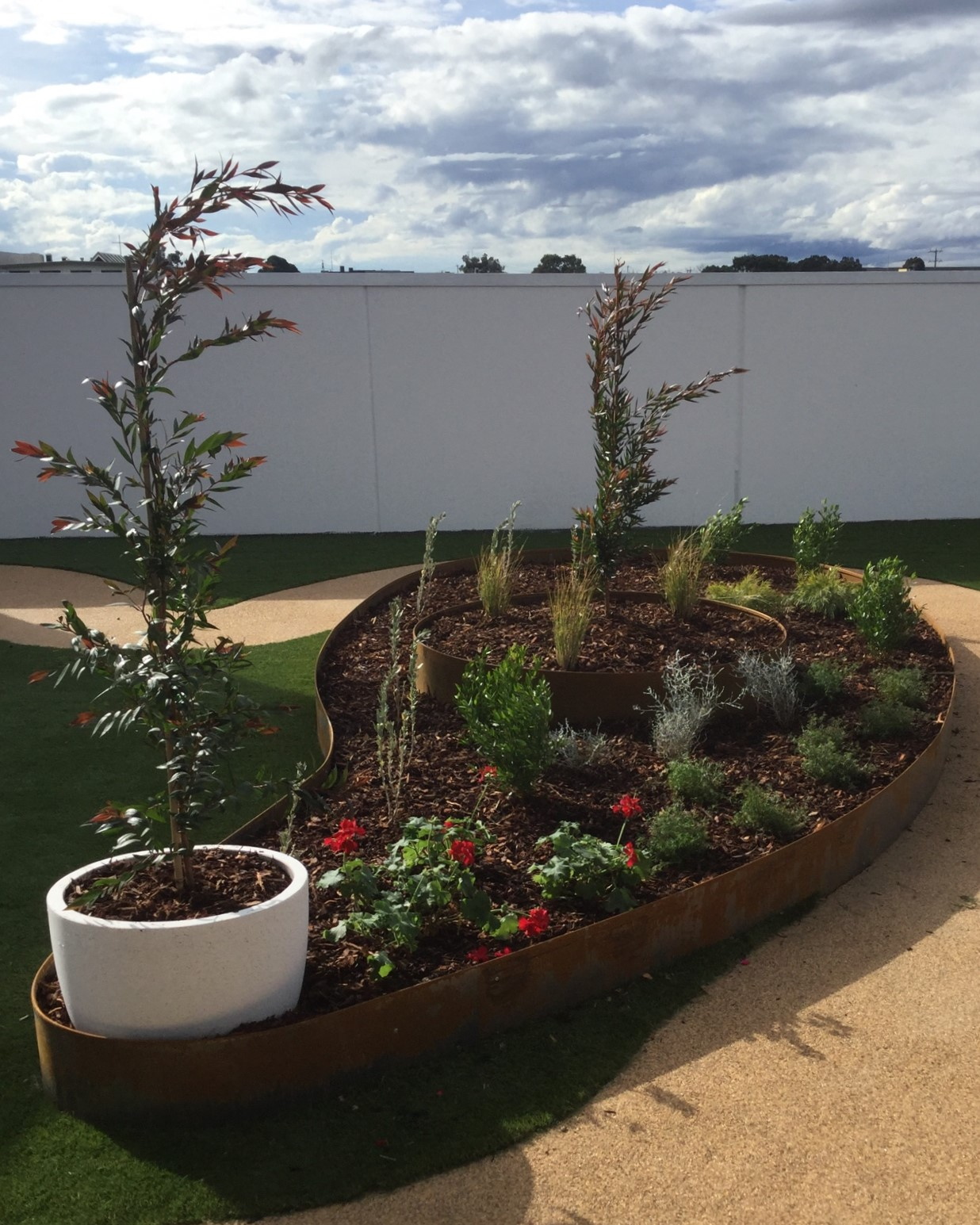 planter boxes coolaroo childcare rooftop