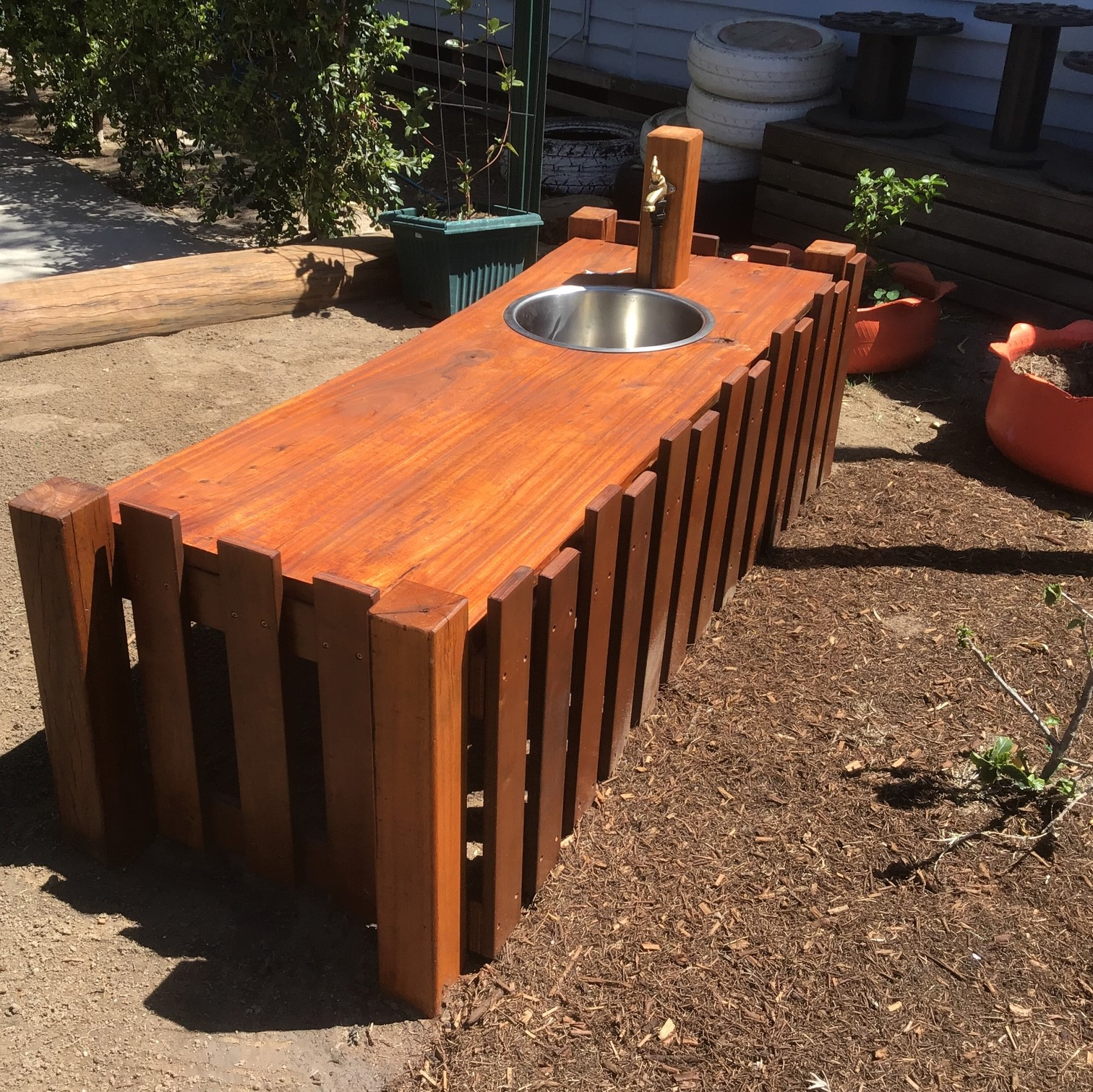 Murilla timber mud kitchen