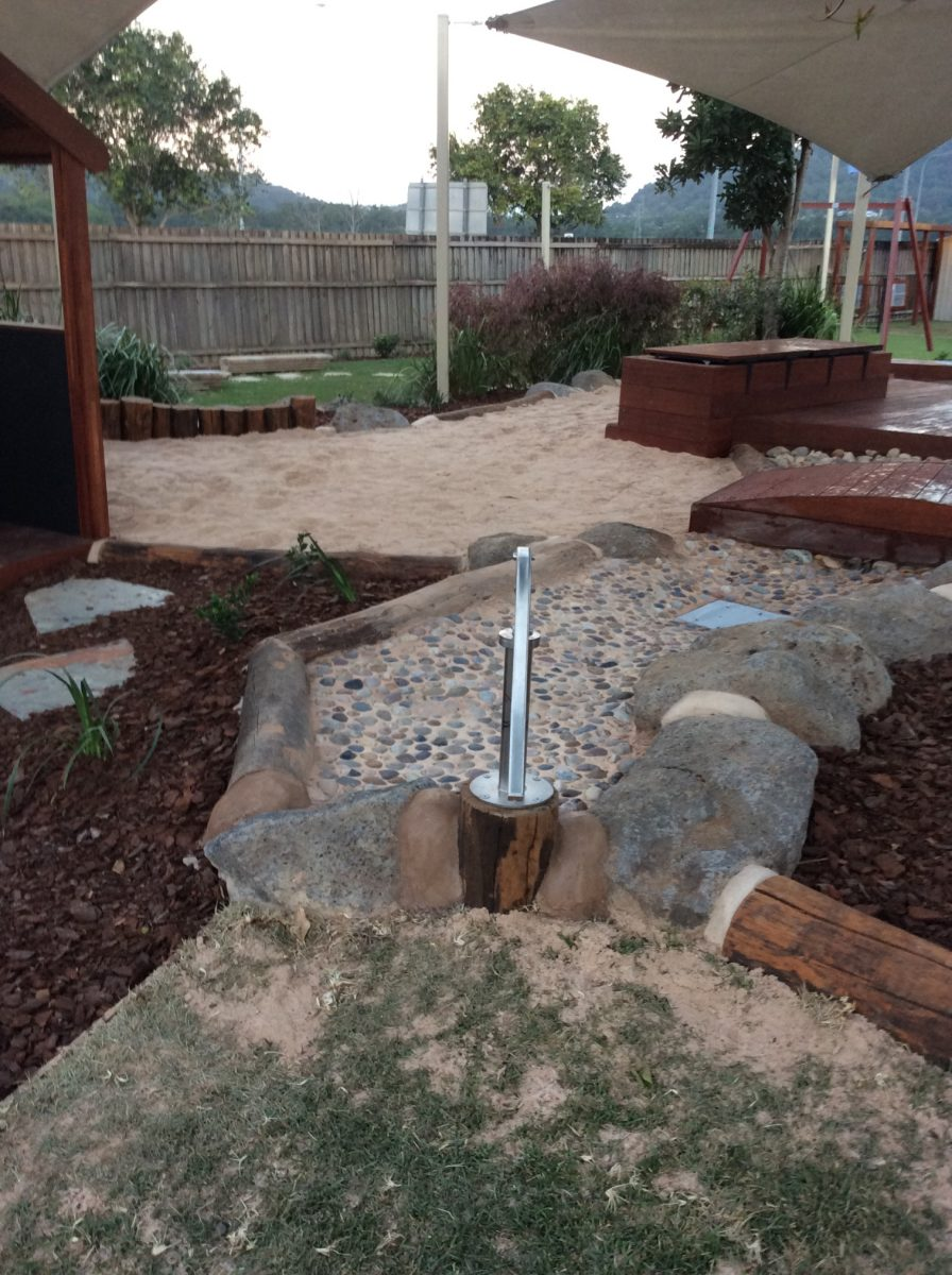 child care playground Queensland water play