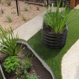 Corrugated iron planter - blackburn