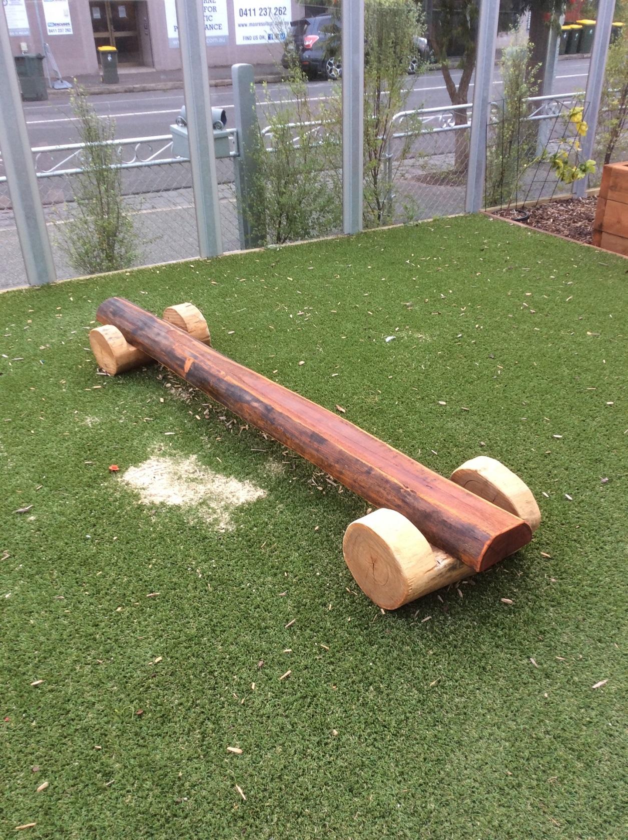 Log balance beams - Brunswick